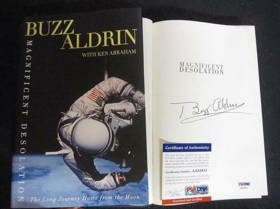 Buzz Aldrin signed Book Magnificent Desolation Apollo 11 Astronaut PSA/DNA