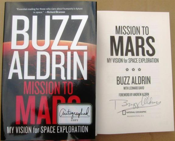 Buzz Aldrin signed Book Mission to Mars Apollo 11 2nd Man on Moon Beckett BAS