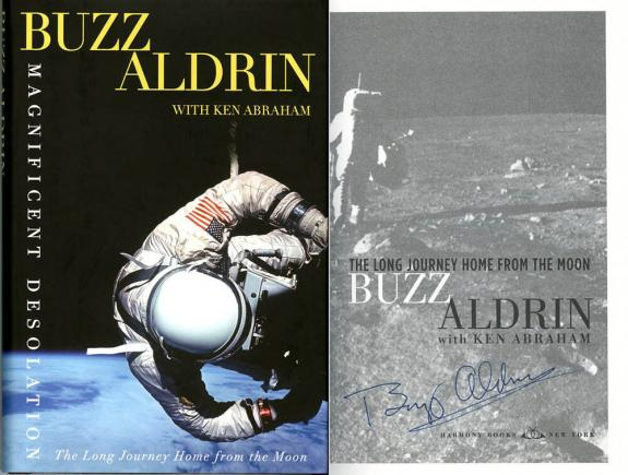 Buzz Aldrin SIGNED Magnificent Desolation Book 1st Ed Letter PSA/DNA AUTOGRAPHED