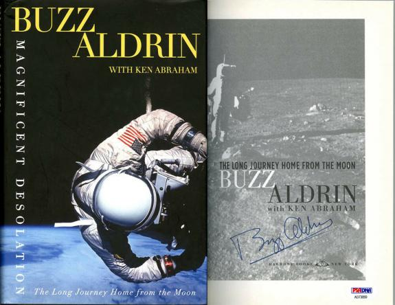 Buzz Aldrin SIGNED Magnificent Desolation Book 1st Ed NASA PSA/DNA AUTOGRAPHED