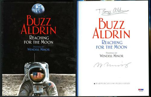 Buzz Aldrin SIGNED Reaching For The Moon HC 1st Ed 1st Print PSA/DNA AUTOGRAPHED