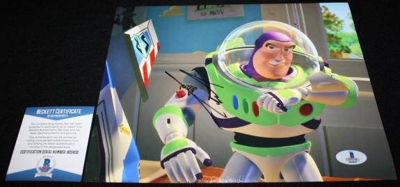 BUZZ Tim Allen signed 8 x 10, TOY STORY, Home Improvement, Beckett BAS B05832