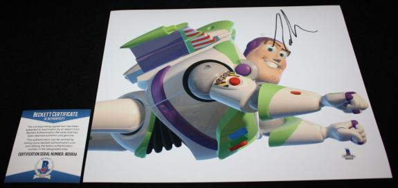 BUZZ Tim Allen signed 8 x 10, TOY STORY, Home Improvement, Beckett BAS B05834