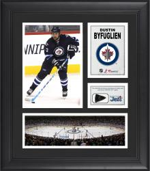 Dustin Byfuglien Winnipeg Jets Framed 15'' x 17'' Collage with Game-Used Puck-Limited Edition of 500 - Mounted Memories
