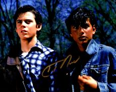 C. Thomas Howell Signed The Outsiders With Ralph Macchio 8x10 Photo