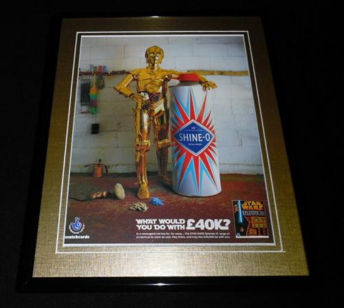 C3PO 2005 Star Wars Episode III 11x14 Framed ORIGINAL Advertisement