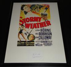 Cab Calloway Signed Framed 18x24 Stormy Weather Poster Display