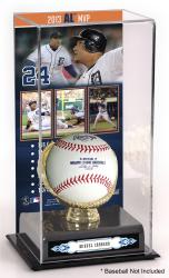 Miguel Cabrera Detroit Tigers 2013 American League MVP Award Gold Glove with Image Display Case - Mounted Memories