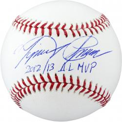 Miguel Cabrera Detroit Tigers Autographed Baseball with 2012 & 2013 AL MVP Inscription - Mounted Memories