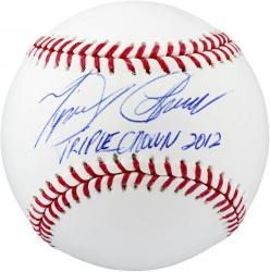 Miguel Cabrera Detroit Tigers Autographed Baseball with 2012 Triple Crown Inscription