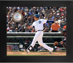"Miguel Cabrera Detroit Tigers Framed 20"" x 24"" Gamebreaker Photograph with Game-Used Ball"