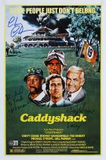 Caddyshack (3) Chase, Morgan & O'Keefe Signed 12x18 Movie Poster BAS Witnessed 1