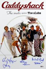Caddyshack (3) Chase, Morgan & O'Keefe Signed 12x18 Movie Poster BAS Witnessed 2