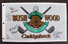 Caddyshack (3) Chase, Morgan & O'Keefe Signed Bushwood Flag BAS #I49713