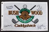 Caddyshack (4) Murray, Chase, Morgan & O'Keefe Signed Bushwood Flag BAS #I47060