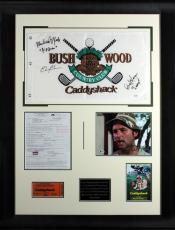 Caddyshack Cast (5) Chase, Murray, Dangerfield Signed & Framed Display