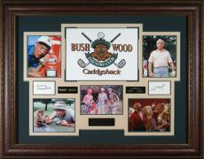 Caddyshack Cast Signed Display Rodney Dangerfield Ted Knight