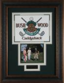 Caddyshack Cast Signed Display Chevy Chase & Bill Murray