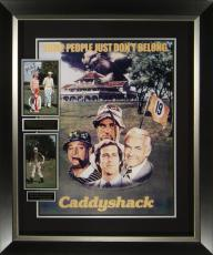 Caddyshack Chevy Chase & Cast Signed Movie Poster Framed