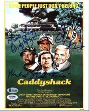 Caddyshack (Chevy Chase, Morgan & O'Keefe) Signed 8X10 Photo BAS Witness #I31768