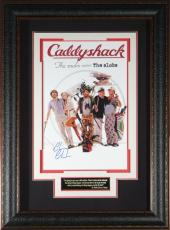 Chevy Chase Autographed Photo - Caddyshack 11x17 Poster Framed