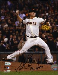Matt Cain San Francisco Giants Autographed 8'' x 10'' Photograph with ''PG 6/13/12'' Inscription - Mounted Memories
