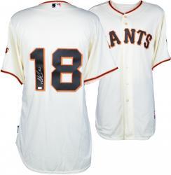Matt Cain San Francisco Giants Autographed Majestic Beige Jersey - Mounted Memories