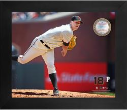 "Matt Cain San Francisco Giants Framed 20"" x 24"" Gamebreaker Photograph with Game-Used Ball"