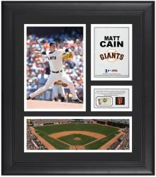 "Matt Cain San Francisco Giants Framed 15"" x 17"" Collage with Game-Used Baseball - Mounted Memories"