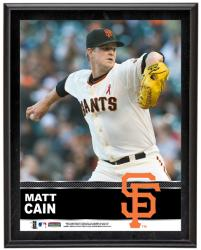 Matt Cain San Francisco Giants Sublimated 10.5'' x 13'' Plaque - Mounted Memories