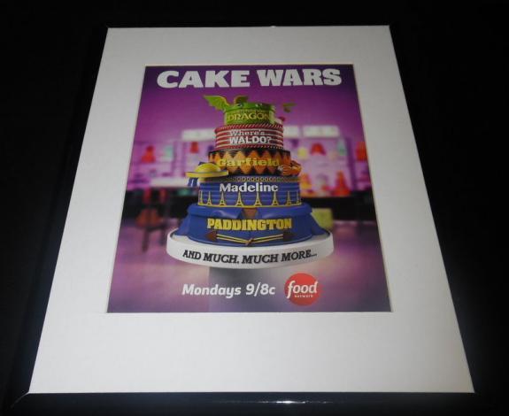 Cake Wars 2016 Food Network Framed 11x14 ORIGINAL Advertisement Garfield