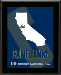 "Cal Bears Sublimated 10.5"" x 13"" State Plaque"