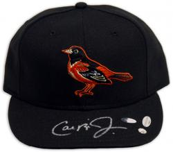 New Era Cal Ripken Jr. Baltimore Orioles Autographed Baseball Hat - Mounted Memories