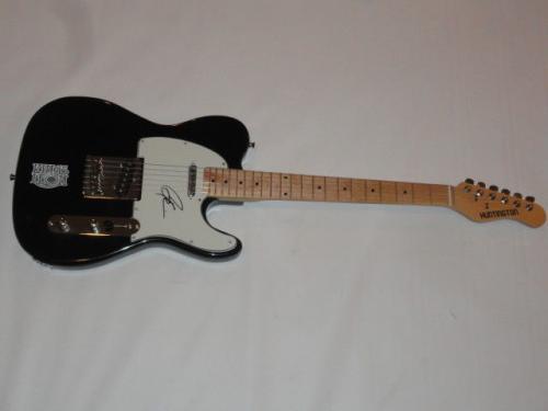 Caleb Followill Signed Electric Guitar Kings Of Leon Autographed Tele Jsa Coa