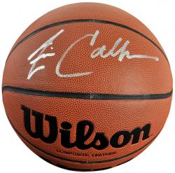 Jim Calhoun Connecticut Huskies Autographed NCAA Replica Basketball - Mounted Memories