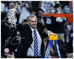 "Jim Calhoun Connecticut Huskies Autographed 16"" x 20"" with Net Photograph - Mounted Memories"