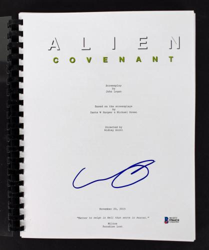 Callie Hernandez Signed Alien Covenant Movie Script BAS #F84424