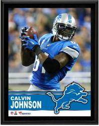 Calvin Johnson Detroit Lions Sublimated 10.5'' x 13'' Plaque - Mounted Memories