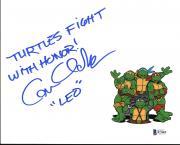 """Cam Clarke Teenage Mutant Ninja Turtles """"LEO"""" Signed 8X10 Photo BAS #B71869"""