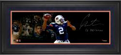 "Cam Newton Auburn Tigers Framed Autographed 10"" x 30"" Film Strip Photograph with Heisman 2010 Inscription-#3-24 of a Limited Edition of 24"