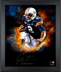 Cam Newton Auburn Tigers Framed Autographed 20'' x 24'' In Focus Photograph with Heisman 2010 Inscription-#3-24 of a Limited Edition of 24 - Mounted Memories