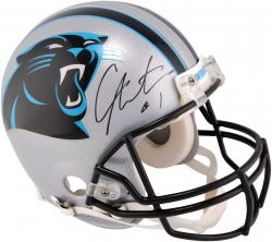 Autographed Cam Newton Helmet - Pro Line Riddell Authentic Mounted Memories