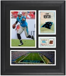 Cam Newton Carolina Panthers Framed 15'' x 17'' Collage with Game-Used Football - Mounted Memories