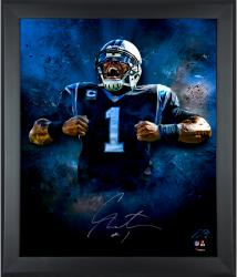 Cam Newton Carolina Panthers Framed Autographed 20'' x 24'' In Focus Photograph-#2-23 of a Limited Edition of 24 - Mounted Memories