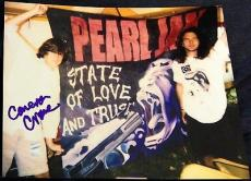 Cameron Crowe Signed Autograph Rare Pearl Jam With Eddie Vedder 8x10 Photo Coa