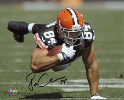 "Jordan Cameron Cleveland Browns Autographed 8"" x 10"" Horizontal Dive Photograph"