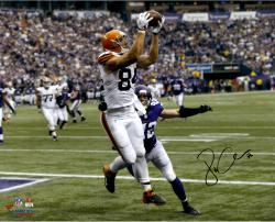 Jordan Cameron Cleveland Browns Autographed 16'' x 20'' Horizontal White Catch Photograph - Mounted Memories