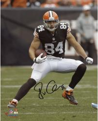 Jordan Cameron Cleveland Browns Autographed 8'' x 10'' Vertical Brown Uniform Photograph - Mounted Memories
