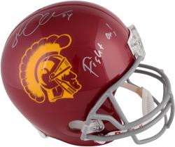 Jordan Cameron USC Trojans Autographed Riddell Replica Helmet with Fight On! Inscription - Mounted Memories