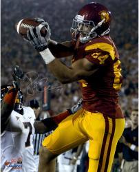 """Jordan Cameron USC Trojans Autographed 16"""" x 20"""" Red Catch Photograph"""